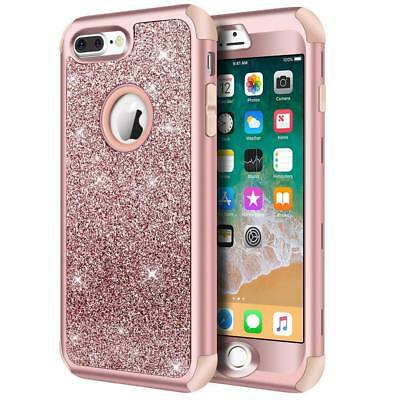 iPhone 8 Plus / iPhone 7 Plus Case, 3 Layer, Bling Glitter Sparkle, Shockproof