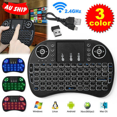 AU Wireless Remote Keyboard Mouse for Samsung LG Smart TV Android Kodi TV Box