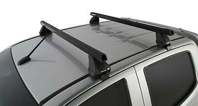Rhino Pair of Heavy Duty Roof Racks Bars Colorado RG 4dr Ute Crew Cab 2013 on