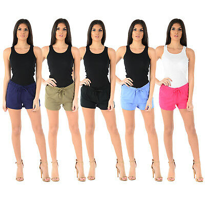 Ladies Women Jersey Shorts Cotton Girl Comfort Casual Holiday Summer Beach Pants