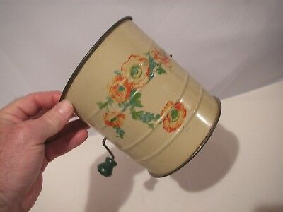 Hall China Orange Poppy Metal Sifter