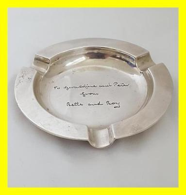 Garrard & Co Heavy Silver Ashtray, Quality Piece, London 1953