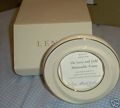 Lenox Ivory China 24K Gold Memorable Picture Frame