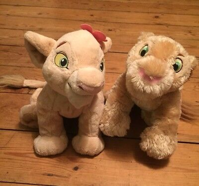 Plush Disney Lion King Simba & Nala Plush Soft Toy Store Exclusive Cuddly VGC