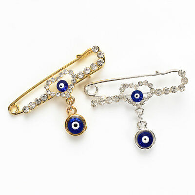 Evil Eye Islam Muslim Arabic Allah Hijab Heart Pin Brooch Islamic Women Jewelry