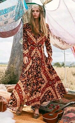 26c8a3f224ab NWT Spell and The Gypsy Collective Lolita 70's Rust Maxi Dress Gown Duster  Sz M