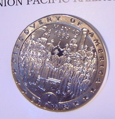 Numisbrief  Insel MAN 1 Crown 1992 ★★★ Union Pacific Railroad ★★★ 726