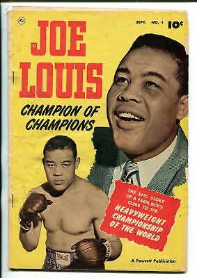 JOE LOUIS #1- 1950-FAWCETT-PHOTO COVER-BIOGRAPHICAL-HEAVYWEIGHT CHAMPION-fr