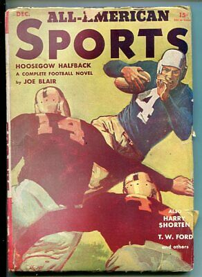 ALL-AMERICAN SPORTS-#1-DEC 1940-MORT MESKIN-SOUTHERN STATES PEDIGREE-vg