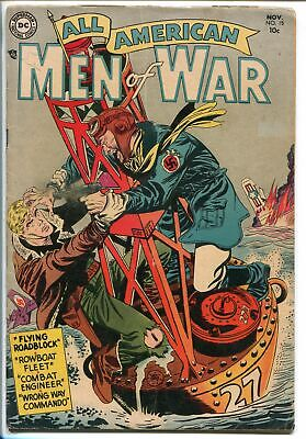 ALL AMERICAN MEN OF WAR #15 1954-DC COMICS-COOL COVER-WWII INTERIOR ART-vg/fn