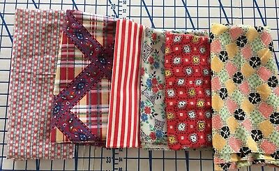 Large Lot of Vintage/Antique Cotton Fabric Prints  quilting over 3 lbs