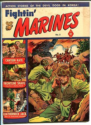 Fightin' Marines #3 1951-St John-Matt Baker cover-Canteen Kate-VG MINUS