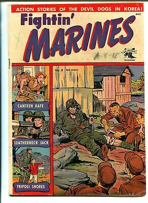 Fightin' Marines #8 1952-St John-Matt Baker-Canteen Kate-VG MINUS