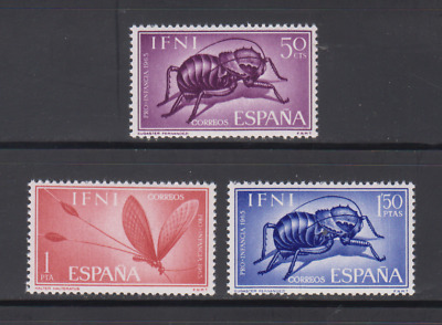 Ifni (1965) Mnh Edifil 212/14 New Free Stamp Hinges Spain - Insects