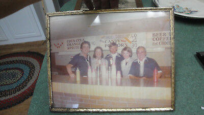 old soda fountain variety store framed photograph hot dogs $.60