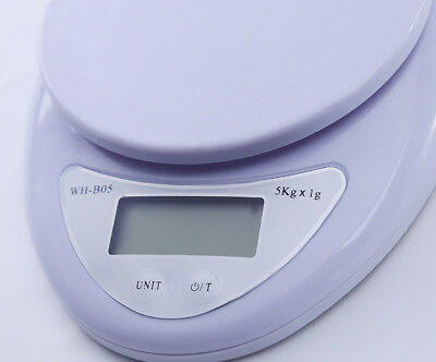 0.1g Cooking Digital Scale Electronic 5kg Diet Kitchen Lb Postage Compact Food