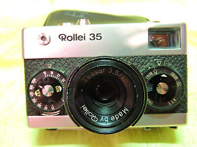 Rollei 35 mit Tessar 3,5/40mm Made by Rollei, normal condition