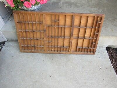 Vintage Wooden Printers Tray/Type Case Drawer