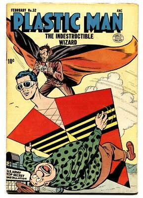 PLASTIC MAN  #52-comic book-THE INDESTRUCTIBLE WIZARD-WOOZY-vg+