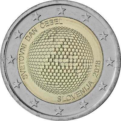 2 Euro Gedenkmünze Slowenien 2018 bfr. - Weltbienentag - World Bee Day