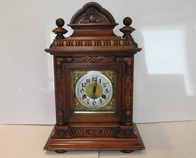 Stunning Large 1906 Junghans 8 Day Time & Strike Antique Mantle Clock