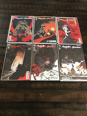 Batman The Shadow 1-6. Complete miniseries. Comics by DC and Dynamite.
