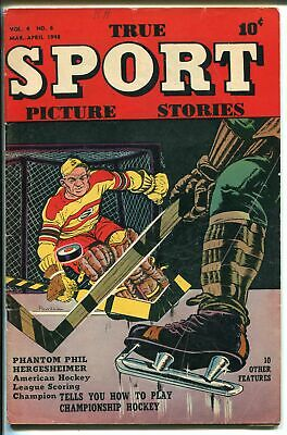 True Sport Picture Stories Vol. 4 #6 1948-hockey-Bob Powell-Jackie Robinson-VG