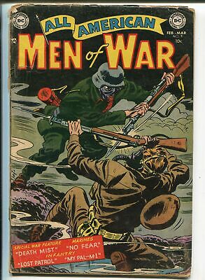 All-American Men of War #9 1954-DC-WWII combat cover-Grandenetti-G+