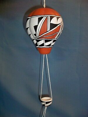 "Decorative Hanging Hot Air Balloon with Basket approx 16"" hanging Iselta"