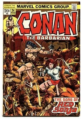 CONAN THE BARBARIAN #24 1973-MARVEL COMICS-FIRST FULL RED SONJA comic