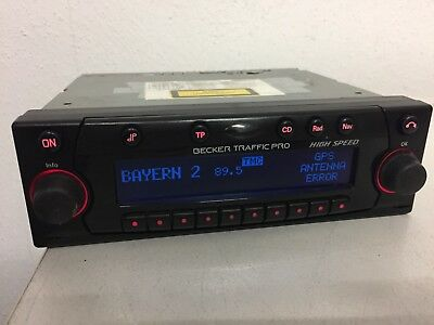 Becker Traffic Pro HIGH SPEED  Navigation CD Radio Becker BE7830 mit CODE