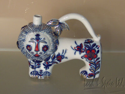 Lomonosov USSR Porcelain Figural Lion Shaped Decanter