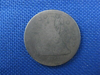 1861 Seated Liberty Quarter 25 Cent Silver U.s. Coin