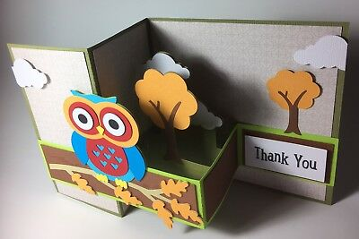 3D Owl Card. Handmade-Ideal For Father's Day, Thank You, Happy Birthday