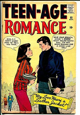 Teen-Age Romances #80 1961-Marvel-teen-age motorcycle gangs-transition issue-VG