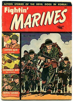 Fightin' Marines #4 1952-St John-Matt Baker-Canteen Kate- G