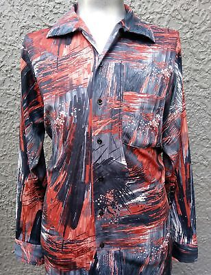 Men's 1970's Polyester Disco Shirt by 'Kings Road' of Sears USA, size XXL.