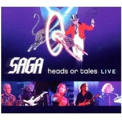 "Saga ""heads Or Tales: Live"" Cd New+"