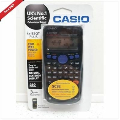 Casio-FX-85GT-Plus-Scientific-Calculator-GCSE-A-Level-exams-with-Case ~FREE P&P