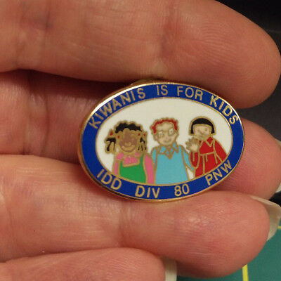 Kiwanis Pin - Kiwanis is for Kids IDD DIV 80 PNW - cute pin with 3 kids