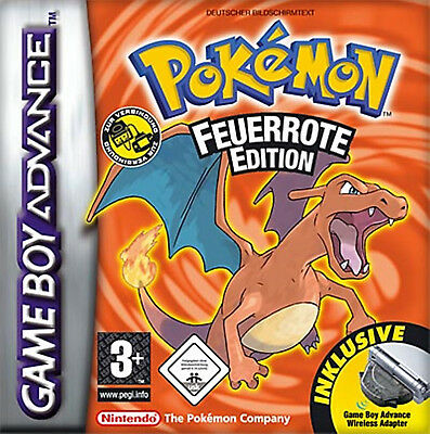 Pokemon Feuerrote Edition | Gameboy Advance SP | GBA SP | Nintendo DS & DS Lite