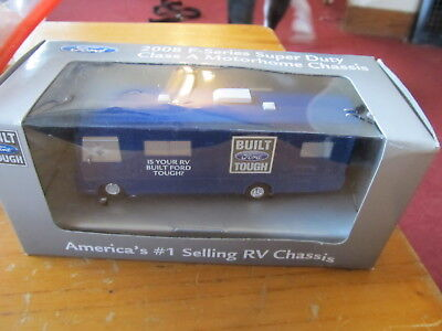 Ford 2008 F-Series Super Duty Class A Motorhome RV Diecast vehicle NEW IN BOX