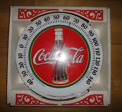 Vintage 1984 COCA COLA COKE Soda Advertising Thermometer *NEW IN PACKAGING*