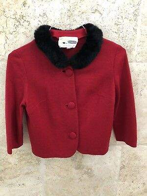 Vintage 50s Sexy Red Sweater