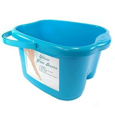 Blue Foot Spa Bucket Roller Relaxing for Foot Bath, Soak, Massage , or Detox