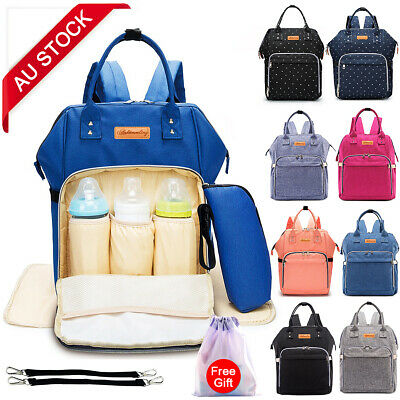 Mummy Maternity Nappy Diaper Bag Large Capacity Multifunctional Backpack AU
