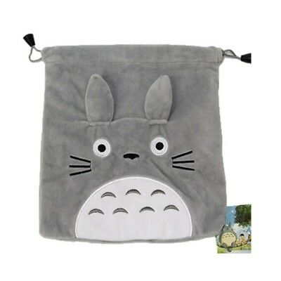 Cute Drawstring Bag Short Soft Plush Handbag Totoro Collectable Storage Bag Kid