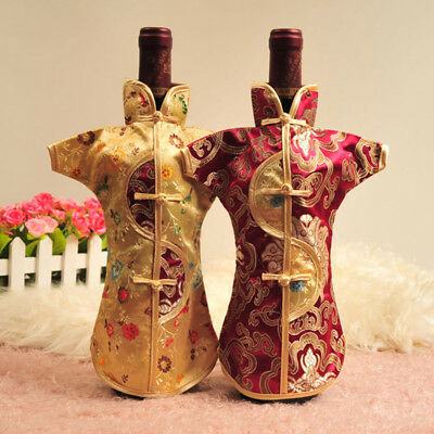 Bottle Wine Cover Chinese Official Robe Champagne Drink Cap for Table Decoration