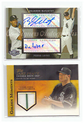 Chicago White Sox 130 Baseball Cards 1985-2018 plus Autograph & Relic Card