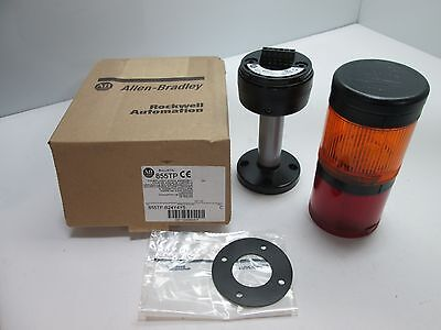 New In Box Allen Bradley 855TP-B24Y4Y5 Tower Light Stack, Colors: Red and Amber